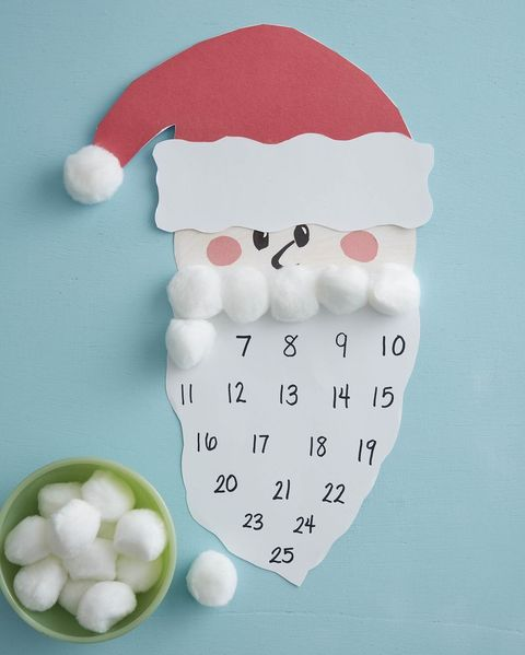 christmas crafts for kids santa advent calendar
