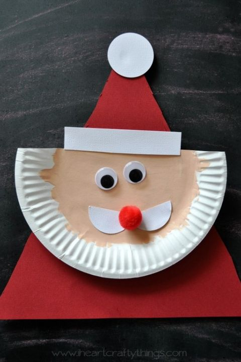 christmas crafts for kids santa plate