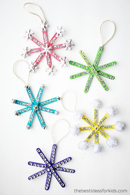christmas crafts for kids snowflake ornaments