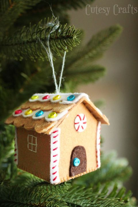 christmas craft gingerbread house ornament