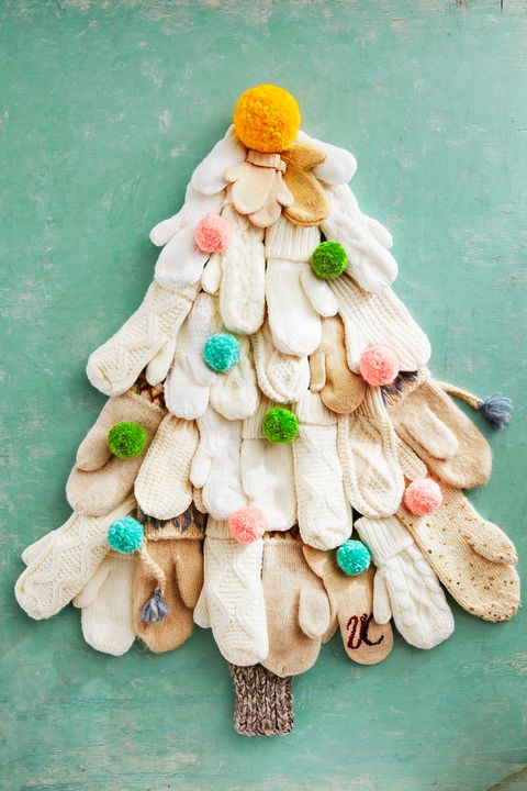 christmas crafts mitten tree