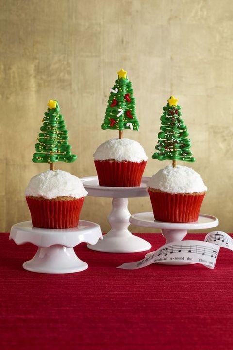 christmas cupcakes christmas tree cupcakes