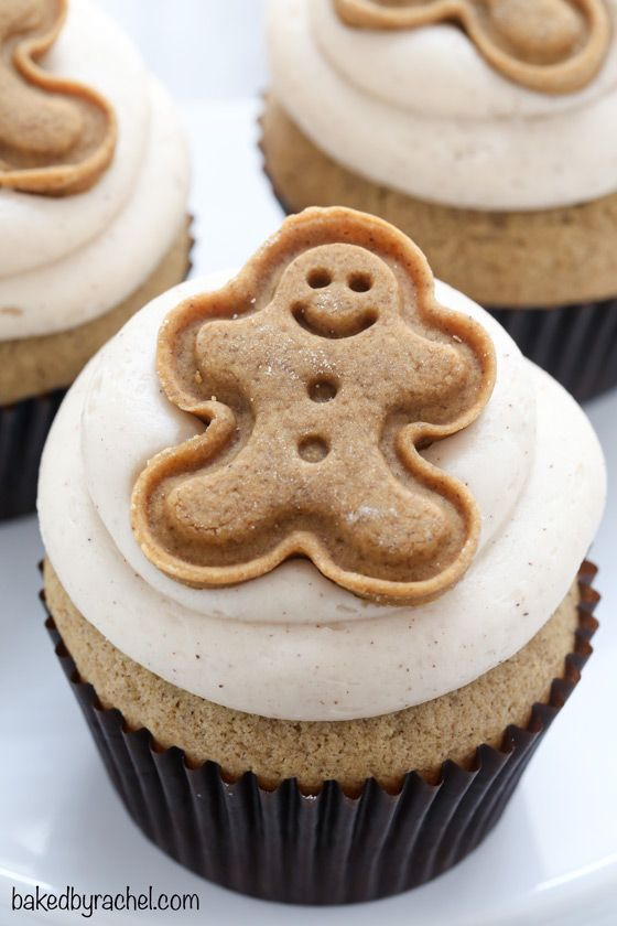 christmas cupcakes gingerbread