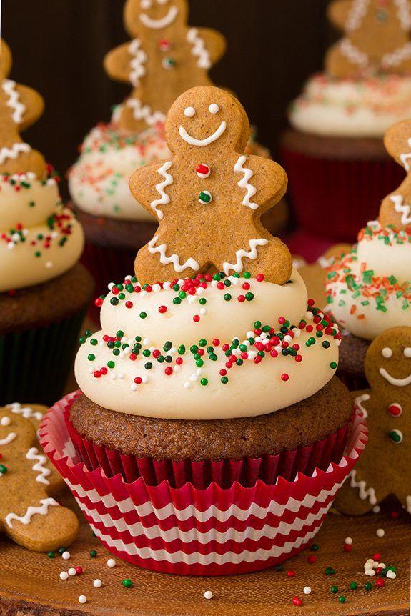 christmas cupcakes gingerbread