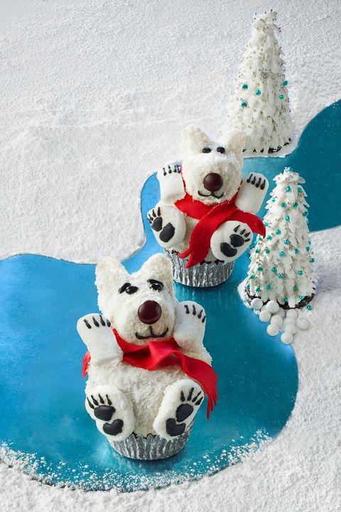 christmas cupcakes polar bear cupcakes