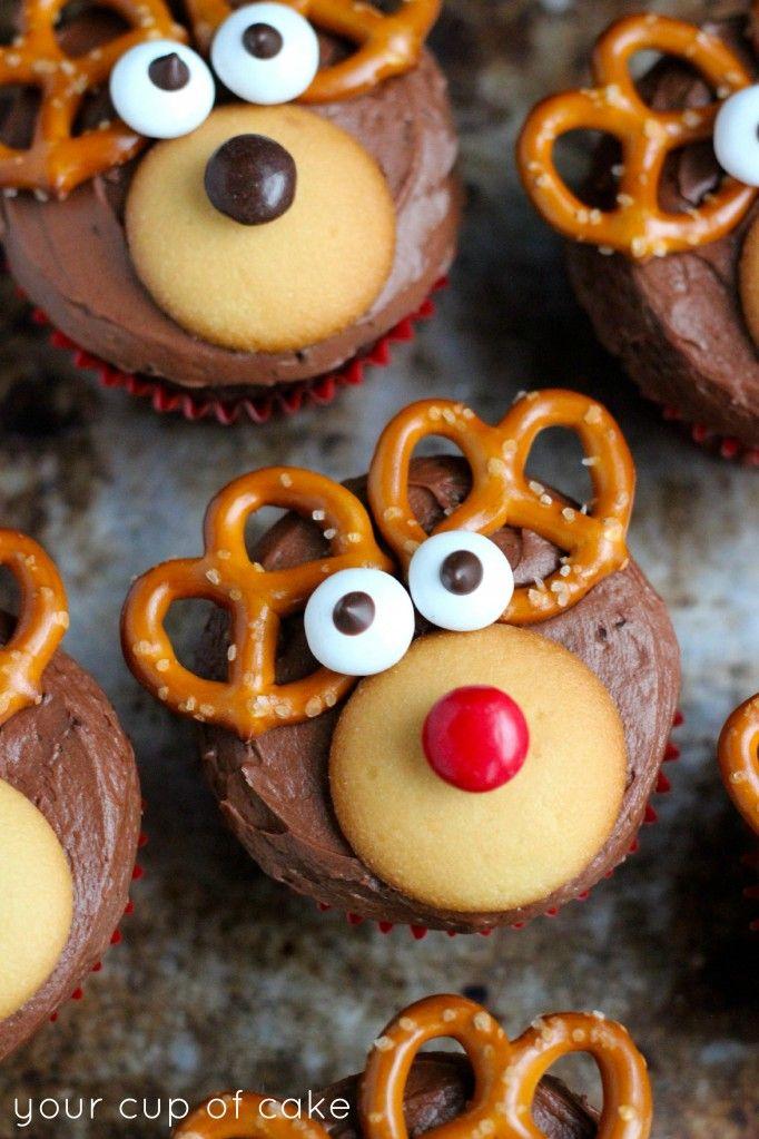 christmas cupcakes reindeer