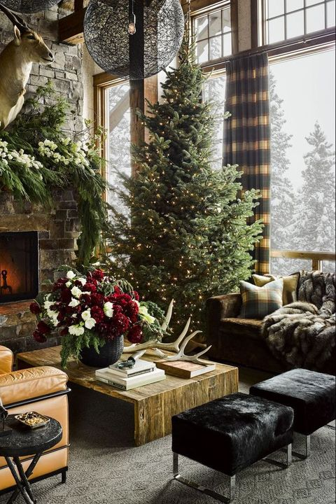 35 christmas decoration ideas 2019 elegant holiday - How to decorate living room for christmas ...