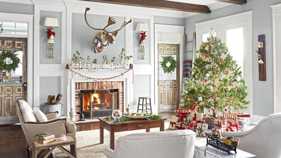 christmas decorating ideas. Country Living & 110 Country Christmas Decorations - Holiday Decorating Ideas 2018