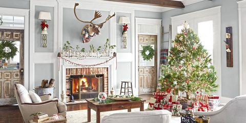 110 Country Christmas Decorations - Holiday Decorating Ideas 2018