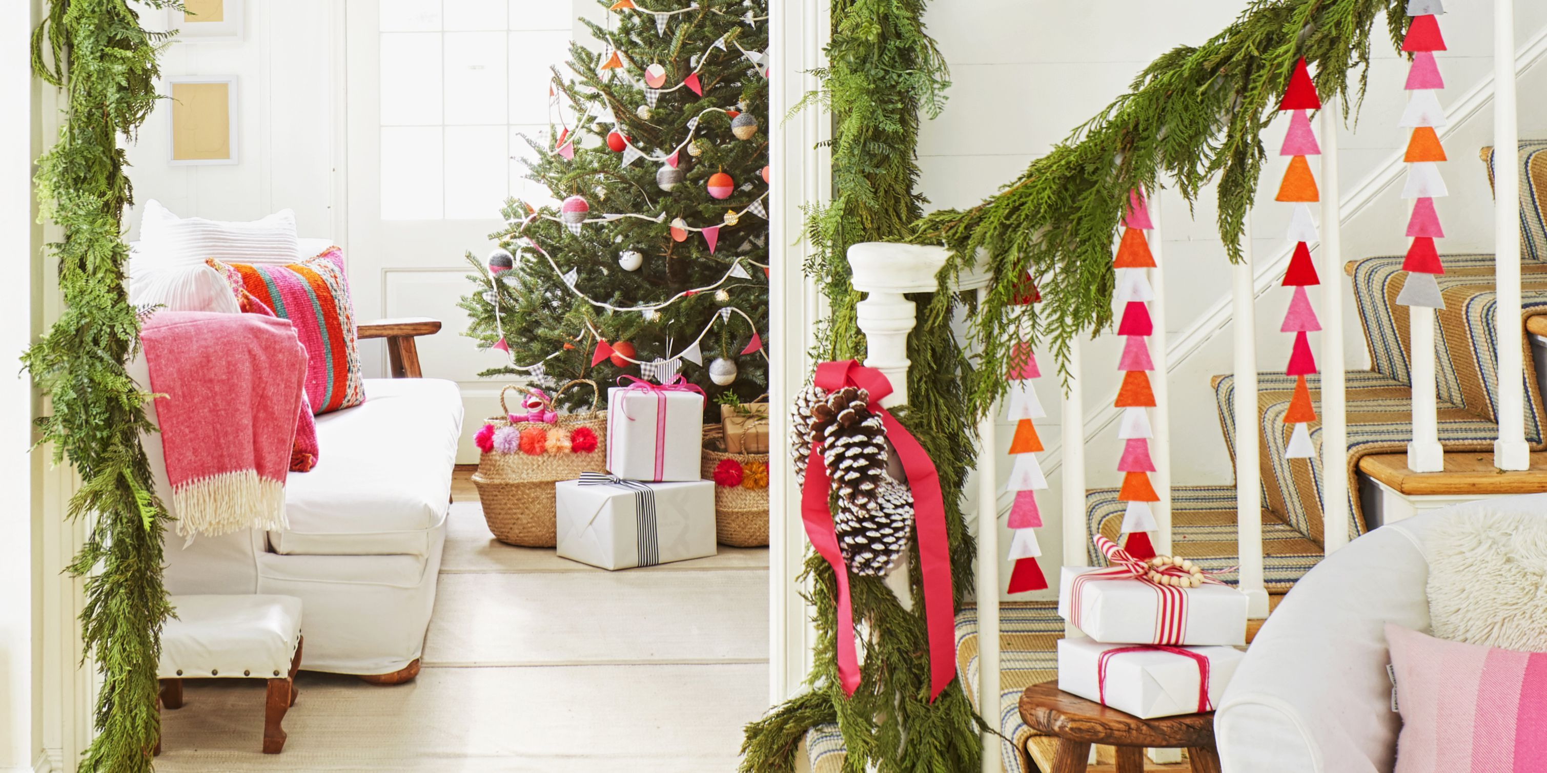 70 diy christmas decorations easy christmas decorating ideas rh goodhousekeeping com decorating for christmas on a budget decorating for christmas outside