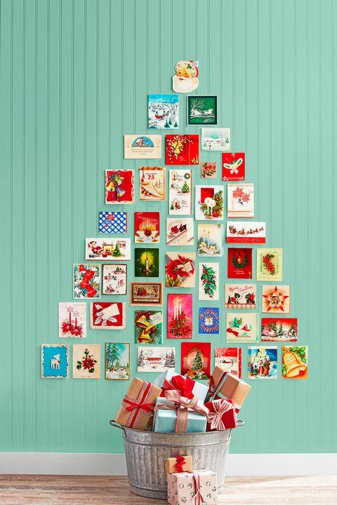 christmas decoration ideas, christmas card display