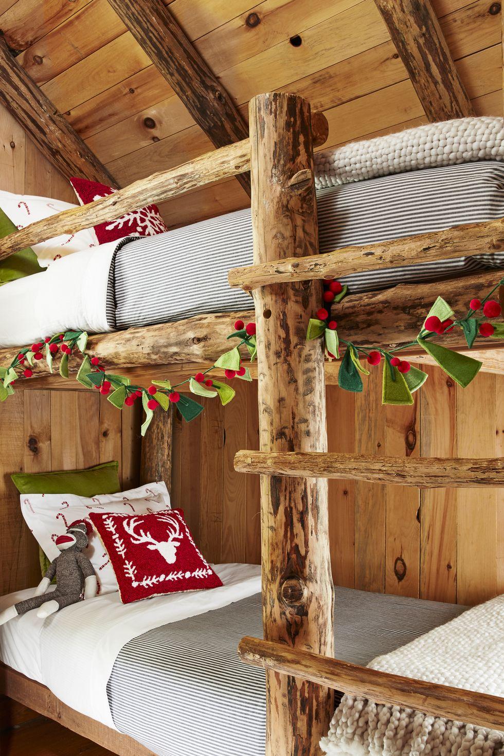 kamar tidur dekorasi ala natal rumah