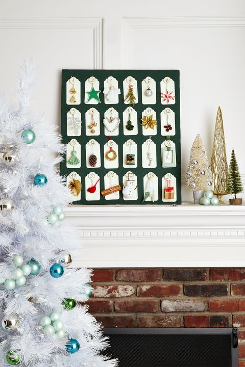 Christmas Decoration Ideas - Mantle Advent Calendar