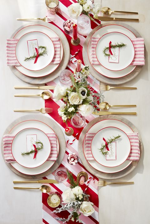 Christmas Decoration Ideas - Red and White Tablescape