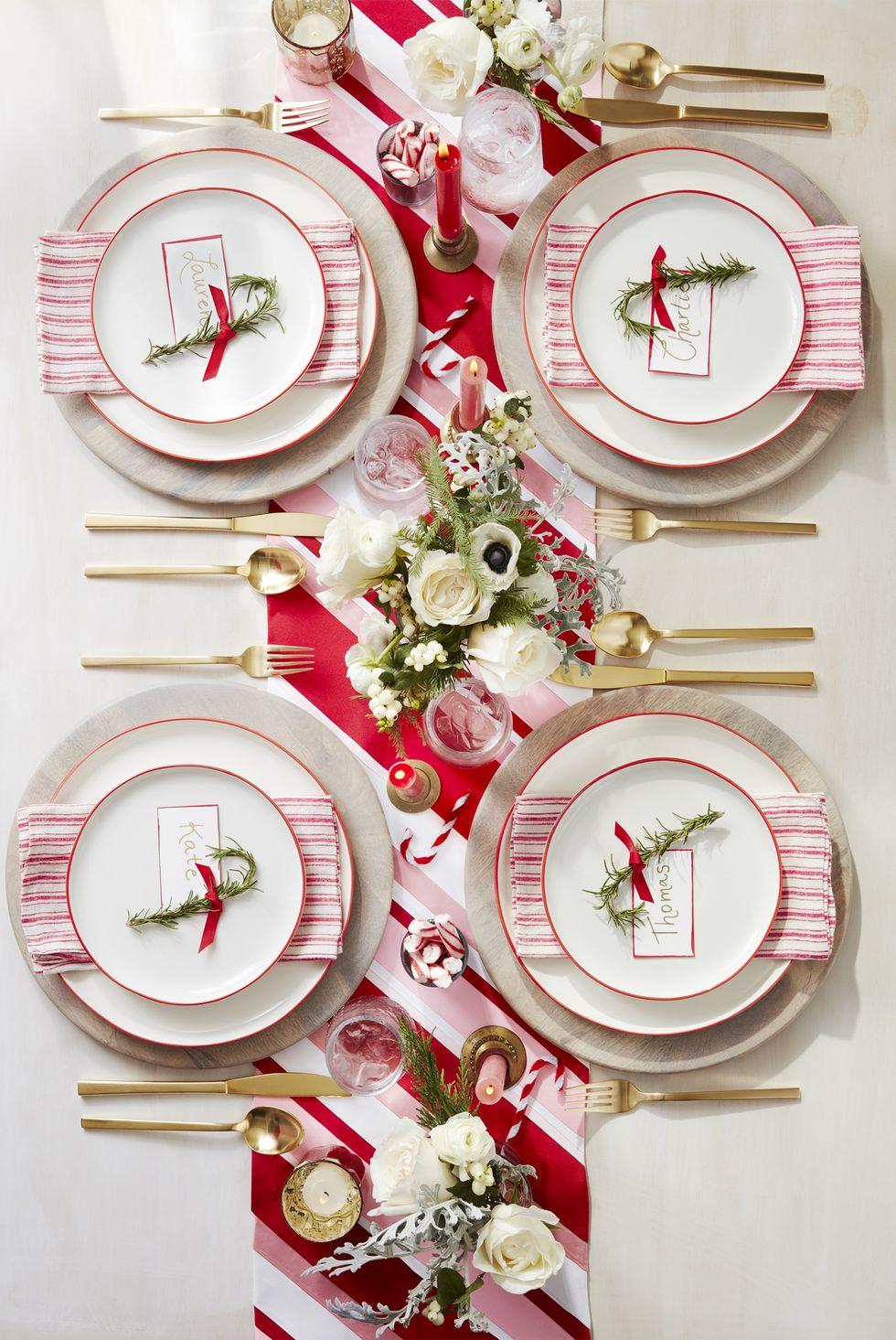 hiasan meja makan natal
