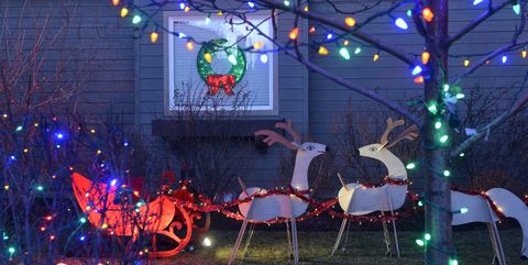 Christmas Decorations At Private Home Bend Oregon Usa