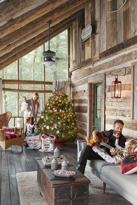christmas decorations living room tree
