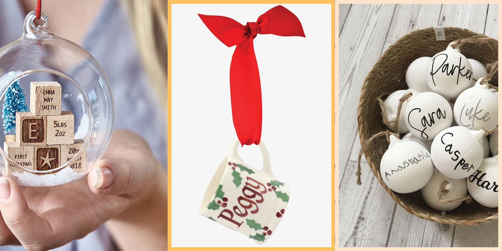 10 of the best personalised Christmas decorations to hang on your tree