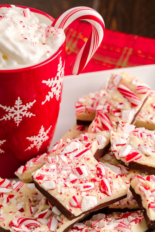christmas desserts bark