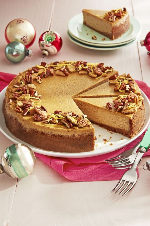 christmas desserts gingerbread cheesecake