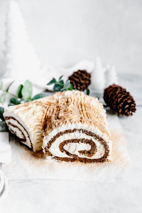 christmas desserts gingerbread yule log