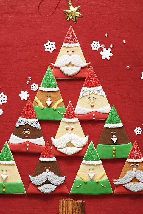christmas desserts santa and elf cookies