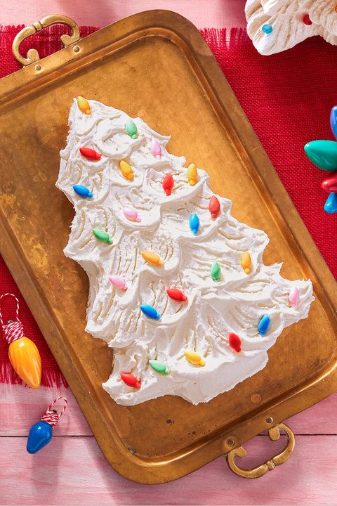 christmas desserts tree cake