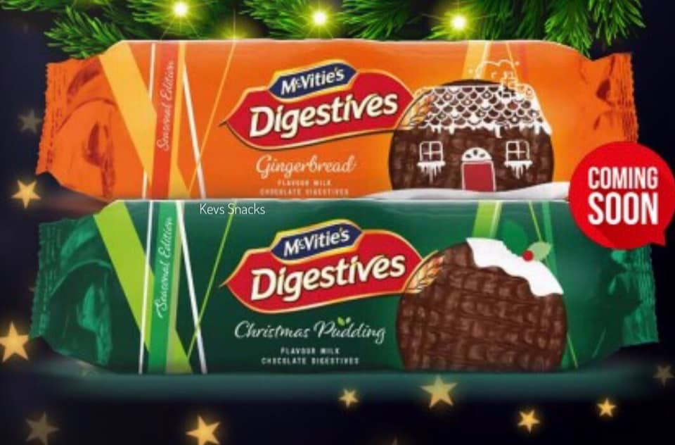 Christmas Flavours 2020 McVities' New Festive Chocolate Digestives Come In Christmas