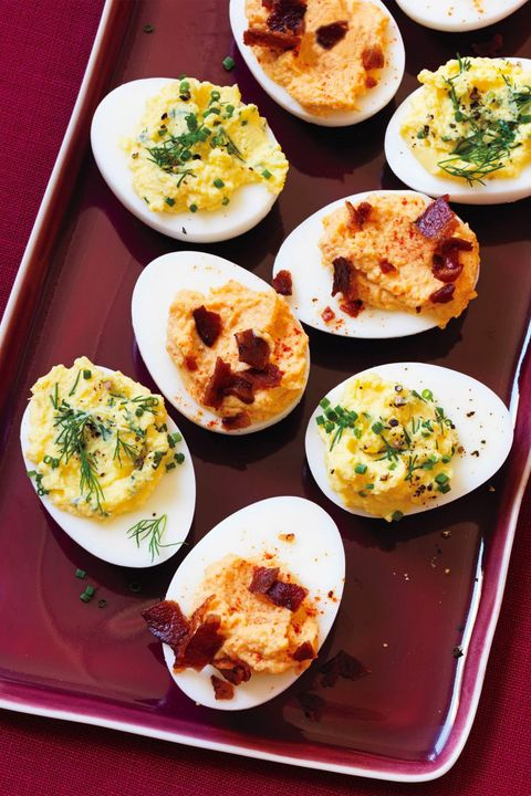 christmas dinner deviled eggs