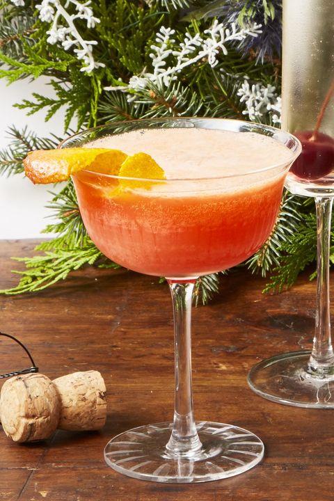 Christmas Dinner Ideas - blood orange spritz