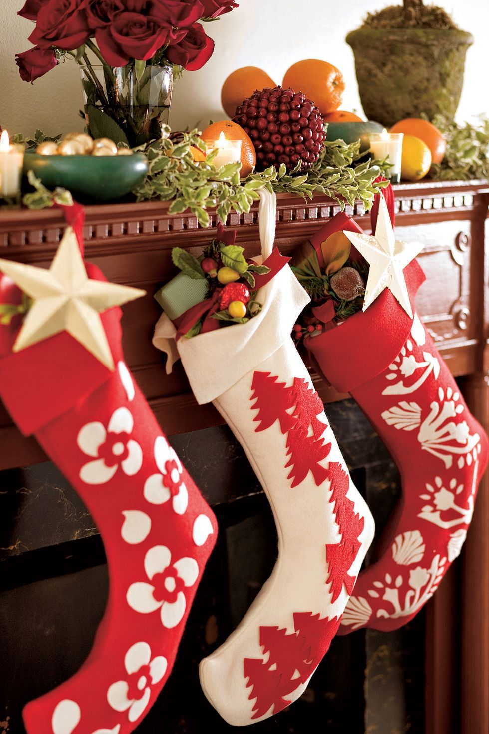 """8/"""" Long Christmas Mini Stocking Green or Red  Size New"""