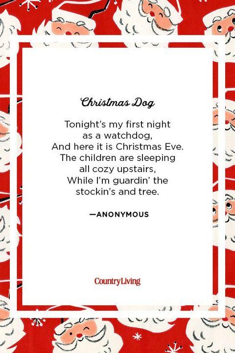 Christmas Dog Funny Christmas Poems for Kids