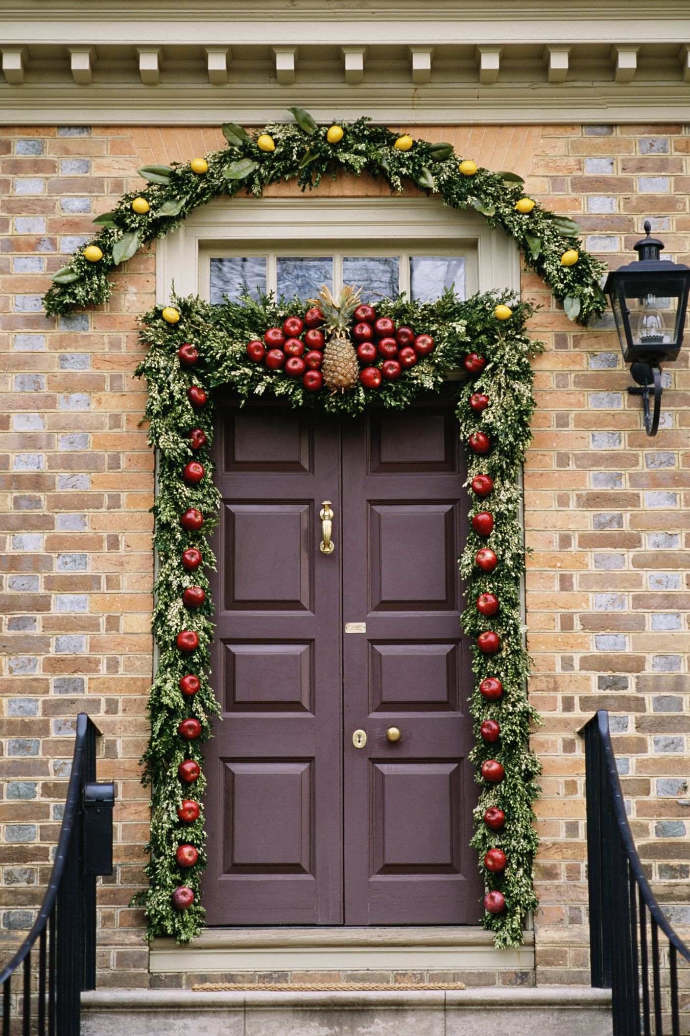 Door with holiday decorations