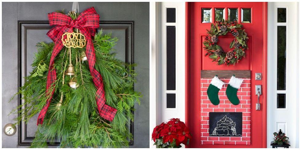 18 Cheerful Christmas Door Decorations That Aren't Wreaths