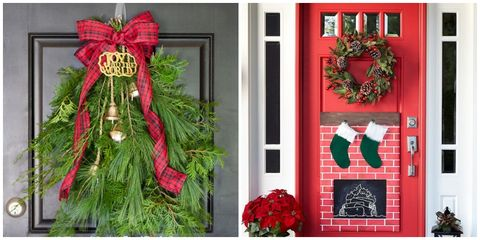 christmas door decorations - Diy Christmas Decorations Ideas