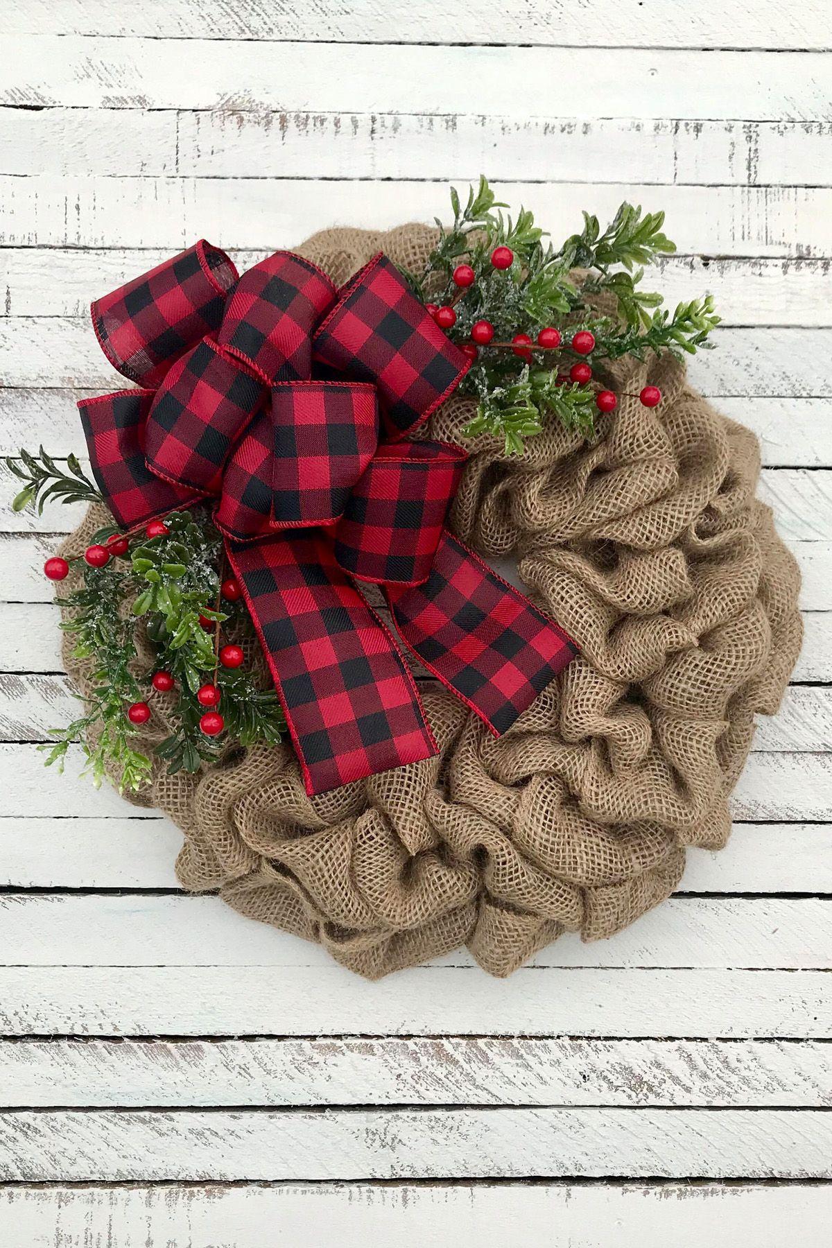 christmas door decorations burlap