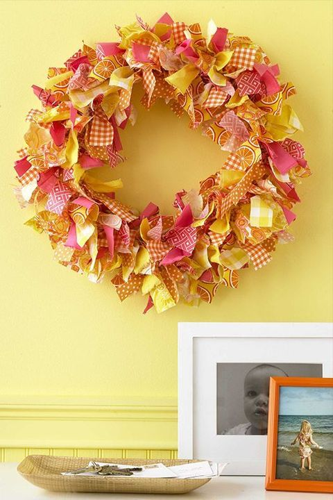 christmas door decorations, fabric wreath