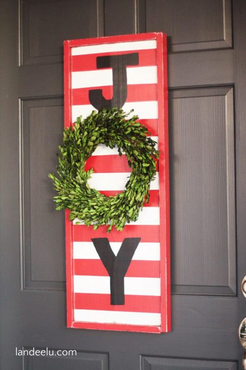 christmas door decorations joy sign