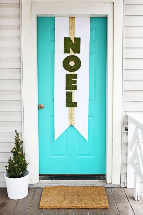 christmas door decorations noel banner