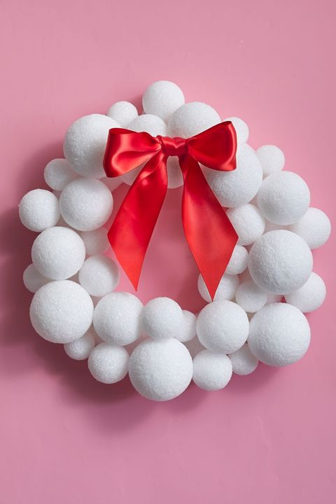 christmas door decorations, styrofoam wreath