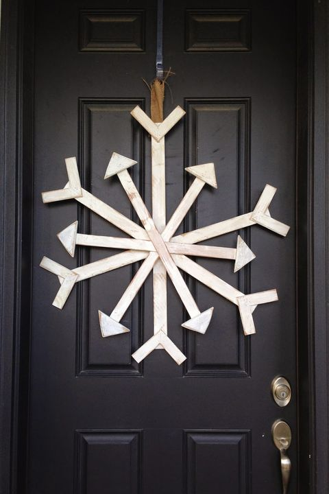 christmas door decorations wooden snowflake