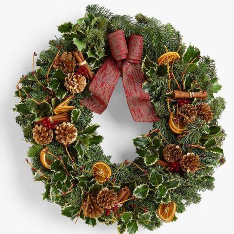 Christmas wreath - Christmas door wreath UK