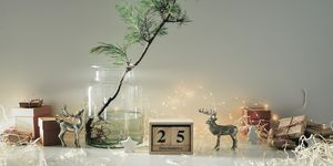 Christmas eco friendly home decor concept