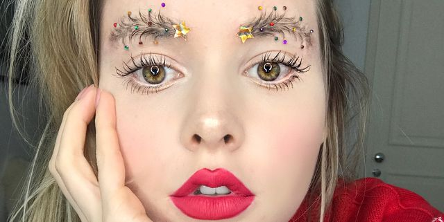 Christmas Facial.The Christmas Tree Eyebrows Trend Is Back With A Bang For 2018