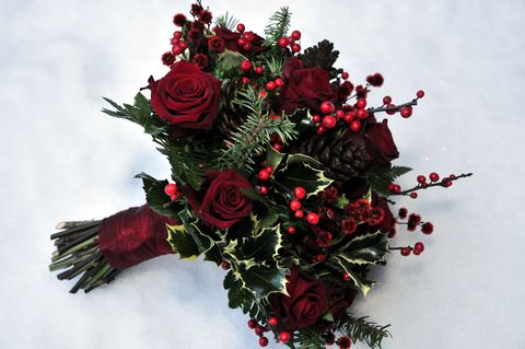 christmas flowers christmas floral arrangement