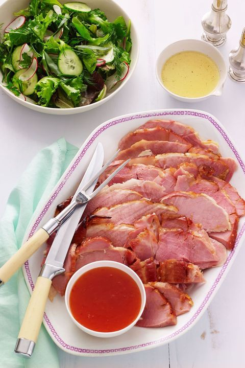 christmas foods best holiday recipes orange red pepper jelly and orange glazed ham