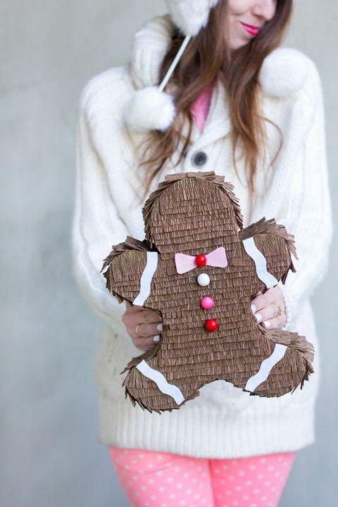 christmas games activities kids gingerbread piñata