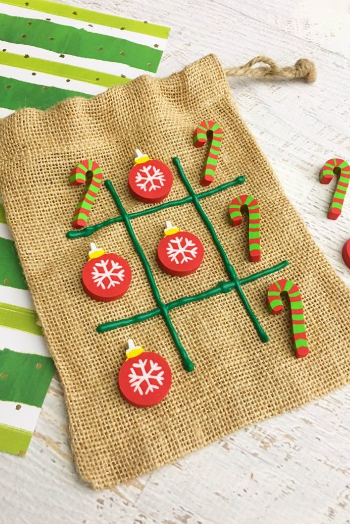 christmas games activities kids tic tac toe