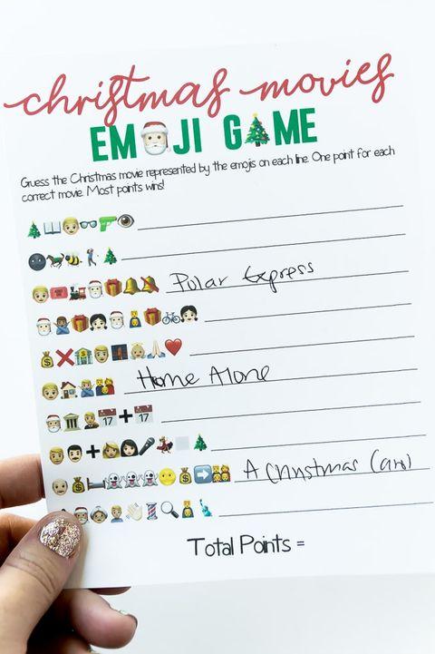 christmas games for adults christmas movie emoji