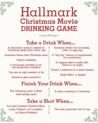 christmas games for adults hallmark drinking game